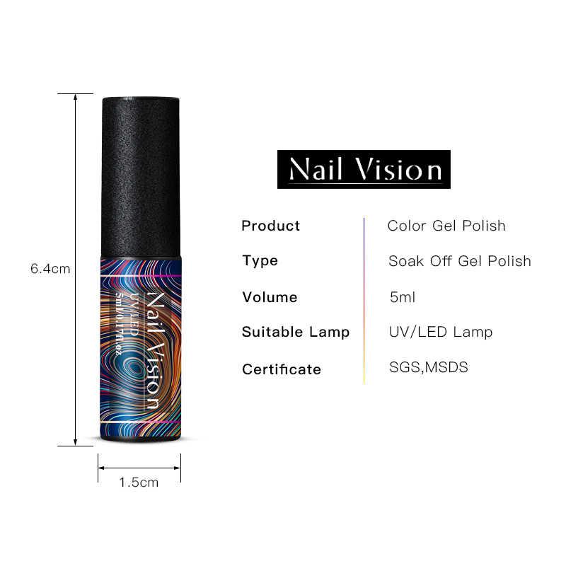 Nail Visione Grigio Marrone Serie Pure Chiodo di Colore Del Gel Smalto 5ml di Caffè Grigio Soak Off UV Manicure Unghie artistiche Vernice lacca Gel