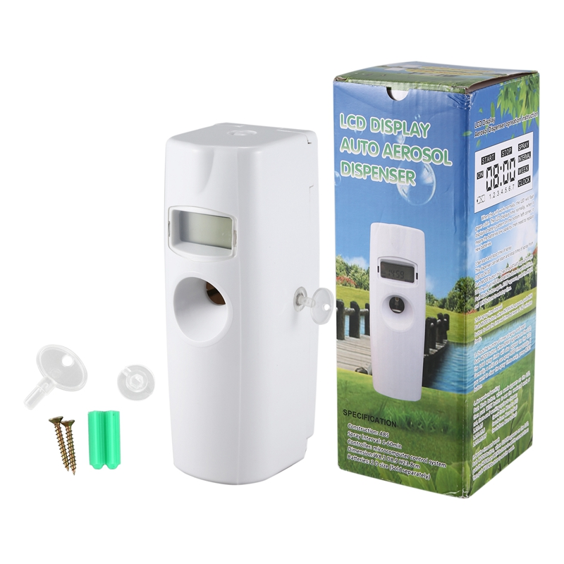 LCD Digital Aerosol Dispenser Automatic Air Freshener Household Wall Mounted Automatic Freshener|Air Purifiers| |  - title=