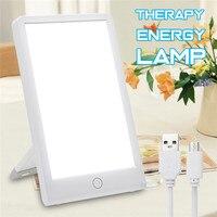 Terapia lâmpada de energia 10000 lux proteção para os olhos saúde luz do dia luz portátil com base ajustável lâmpada sol natural plug eua