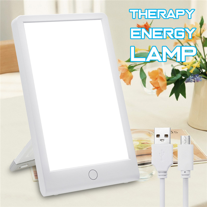 Therapy Energy Lamp 10000 Lux Eye Protection Health Light Daylight Portable Light With Adjustable Base Natural Sun Lamp US Plug