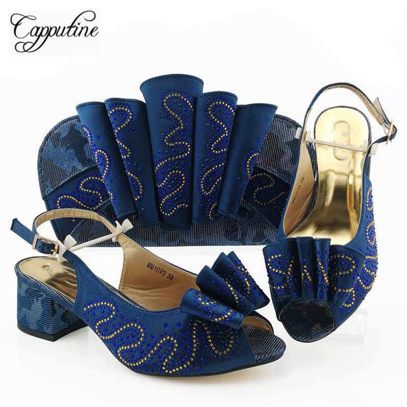 Wspaniałe srebrne sandały buty i torba zestaw gorąca sprzedaż pompy z torebka ozdobione kamieniami MM1093 wysokość obcasa 5.8cm