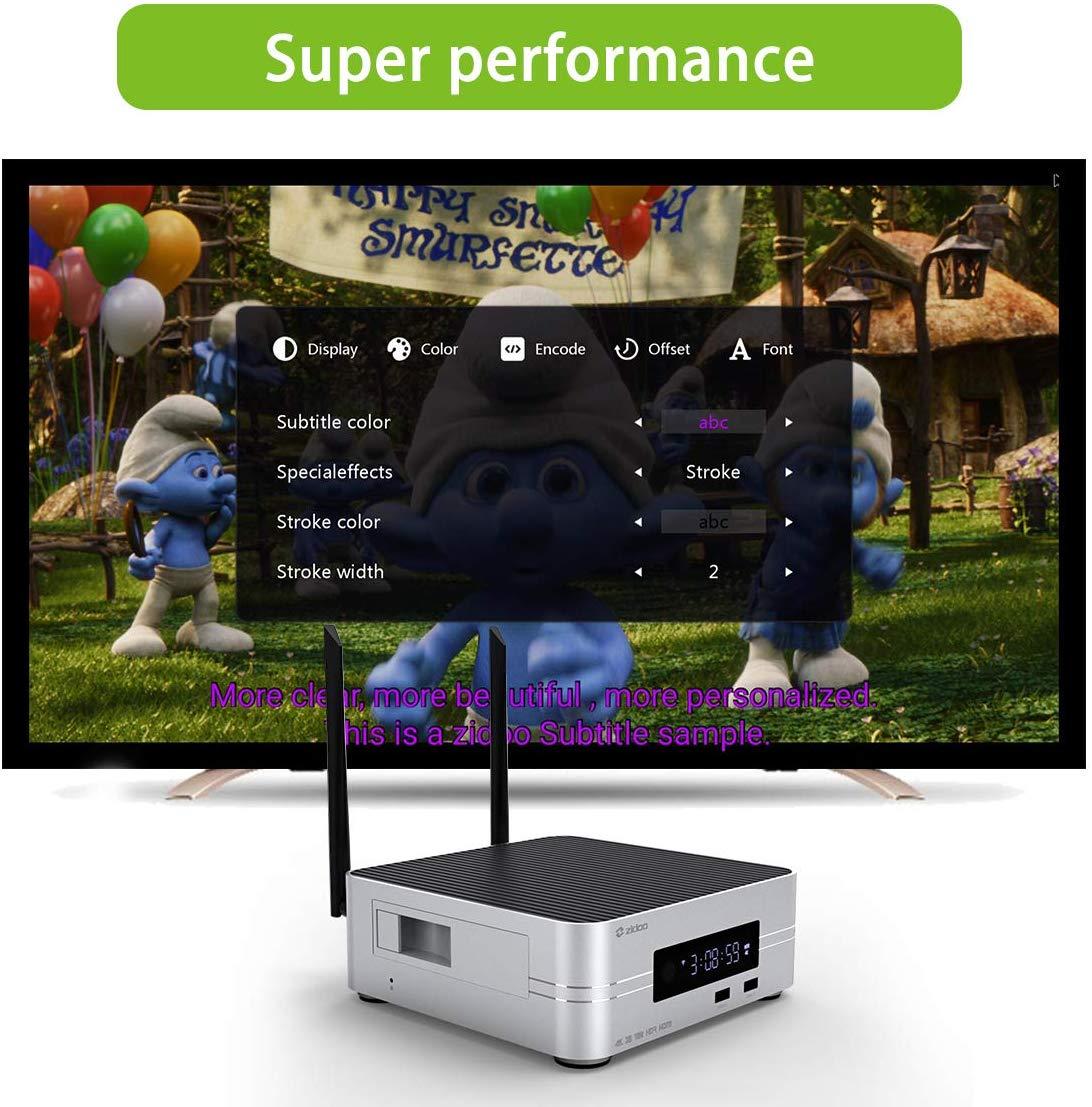 Zidoo Z10 4K Media Player Android 7,1 Smart Tv Box 2G 16G DDR Set Top Box 10Bit HDR Dual-WiFi USB 3,0 BT 4,0 mit Freies Geschenk