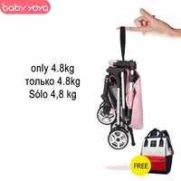 Babyyoya passeggino mini yoya leggero portatile pieghevole del bambino di trasporto 2 in 1 bambino trolley nuovo aggiornamento di automobile del bambino