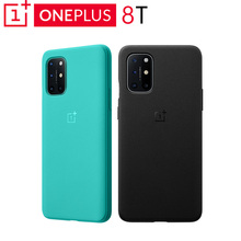 Original OnePlus 8T Sandstone Bumper Case Classic Redefined Passed With Flying Colors Cyan Black PC+TPU 31g 163.7*78*10.9mm