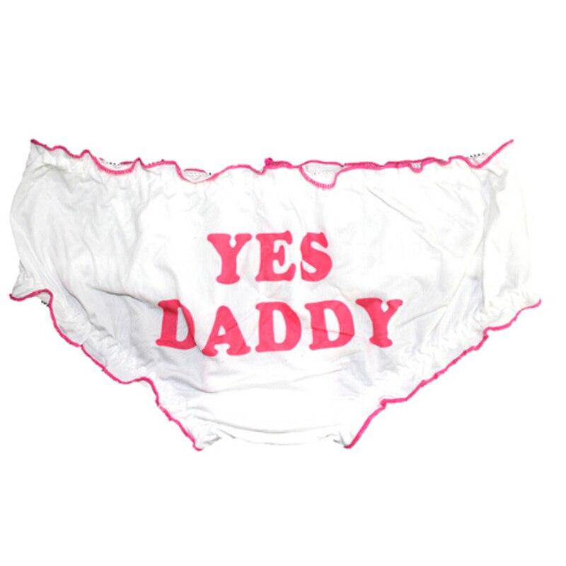 Letters Print Underwear Panties Women Underpants LA