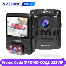 AZDOME GS65H Car DVR Mini Dual Lens Dash Cam Front Full HD 1080P / Rear 720P Car Camera Night Vision GPS For Uber Lyft Taxi