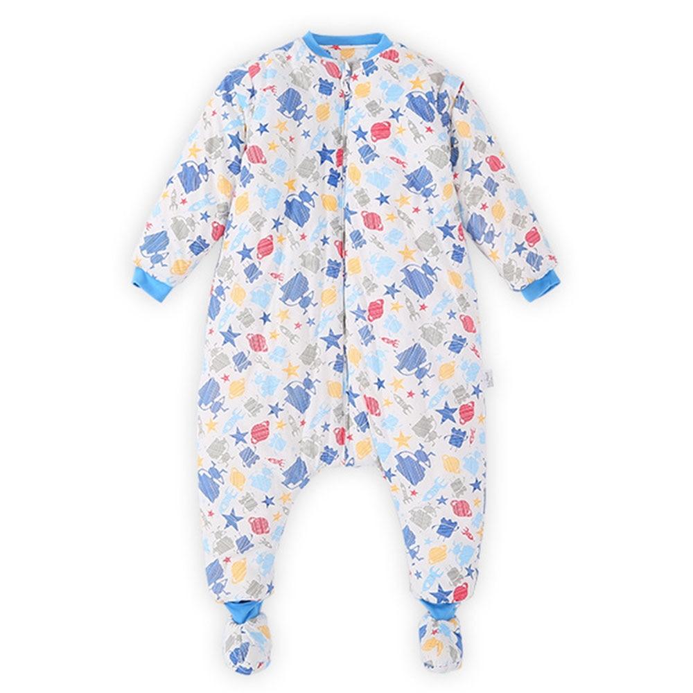 Image 5 - Baby Split Leg Sleep Bag Thick Winter Warm Anti Tipi 0 24M ChildrenS Sleeping Bag Cute Animal Printed Free Gifts Shoe CoverSleepsacks   -