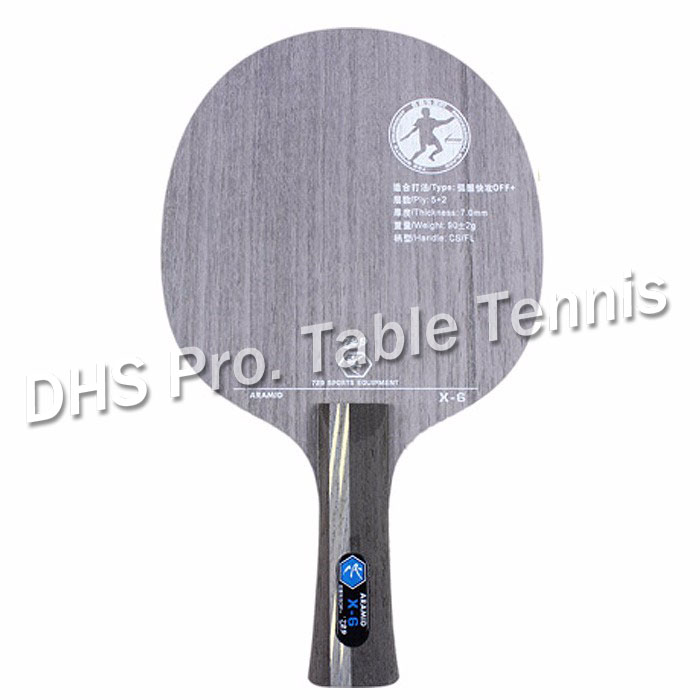 RITC 729 Friendship Like VISCARIA X-6 X6 X 6 Wooden Arylate Carbon OFF++ Table Tennis Carbon Blade For Racket