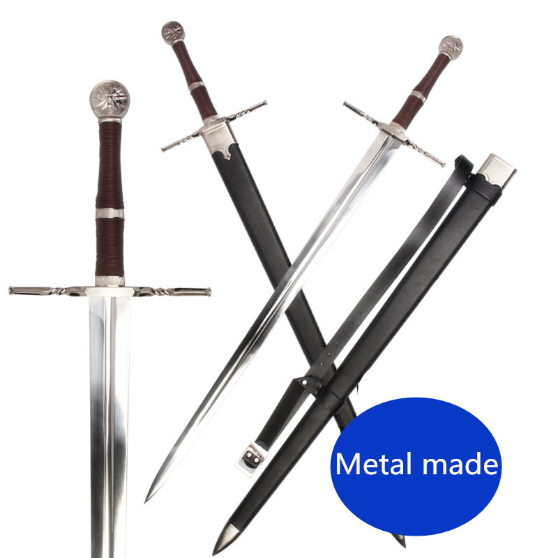 [Metal Made] 126cm Medieval Sword Stainless Steel For Video Game The Witcher3:Wild Hunt Replica Geralt Of Rivia Blade Collection
