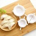 3 stücke Küche 7CM Knödel Formen kunststoff Teig Drücken Dumpling Pie Ravioli Mould Kochen Gebäck Chinesischen Lebensmittel Jiaozi Maker