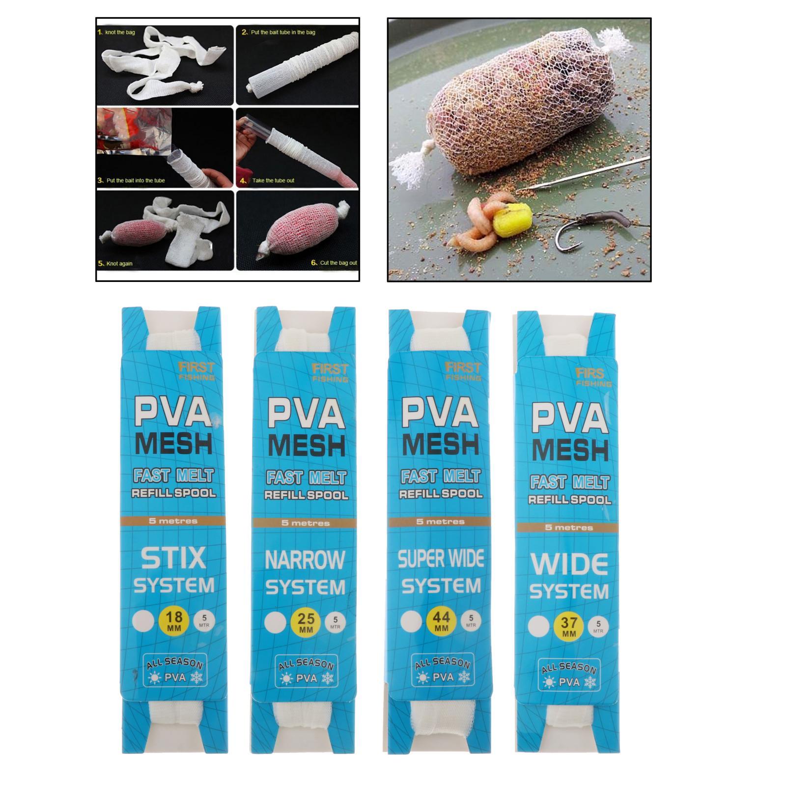 Balıkçılık Bait örgü çanta 18mm/25mm/37mm/44mm hızlı çözünen PVA balıkçılık Bait net suda çözünür yemler dolum çorap olta takımı