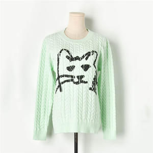 Knitted Pullover Sweaters Runway Designer Womens O-Neck Long-Sleeve Twist Autumn Winter