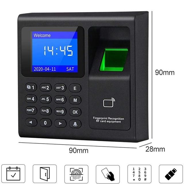 Biometric RFID Access Control System RFID Keypad USB Fingerprint System Electronic Time Clock Attendance Machine 3