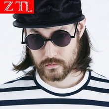 ZT Vintage Steampunk Sunglasses Men Round Double Colors Metal Frame Clear Lens Glasses UV400 Eyewear