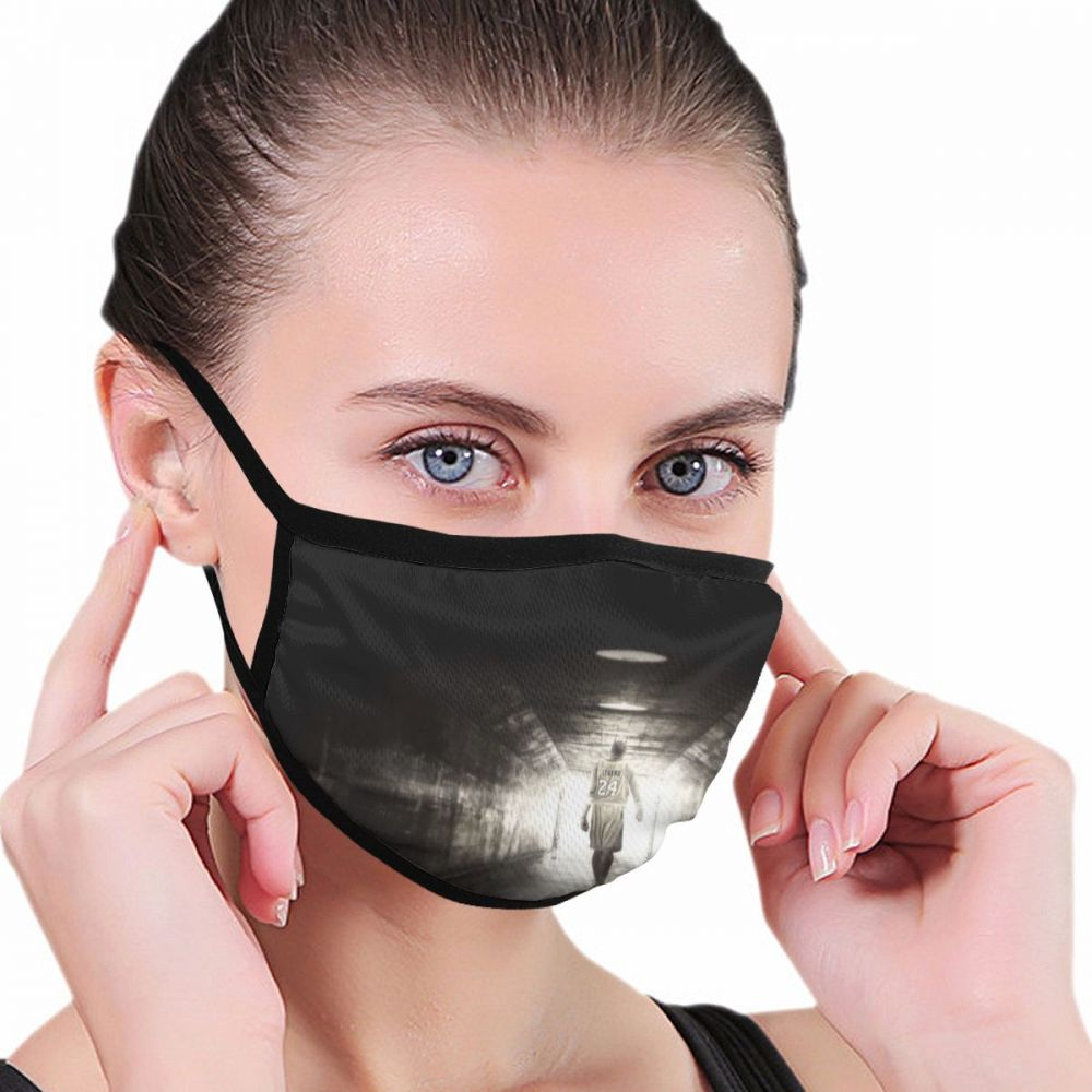 Antiviral Mouth Mask Basketball Star MVP Anti Haze Dust Washable Reusable Double Layer Dustproof Winter Mask Mouth