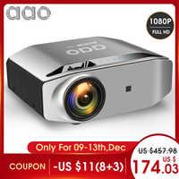 AAO Native 1080p Full HD Projektor YG620 LED Proyector 1920x1080 P 3D Video YG621 Drahtlose WiFi Multi -bildschirm Beamer Heimkino