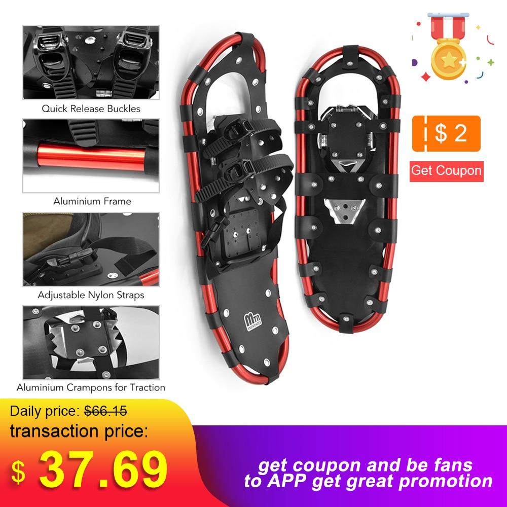 25 /27 /29 Inch Outdoor Snowshoes Aluminum Adjustable Bindings Ski Carrying Tote Bag Practical Durable For Women Men