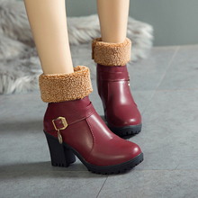 Womens Boots Large Size Winter New Snow Plus Velvet Tube Two Wear European American Warm Women