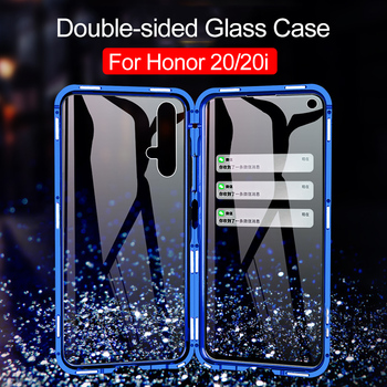 360 Full Cases For Huawei Honor 20 Pro 20i View 20 10 8X Max Case Magnetic Metal Frame Double sided Glass Cover For Nova 5 Case