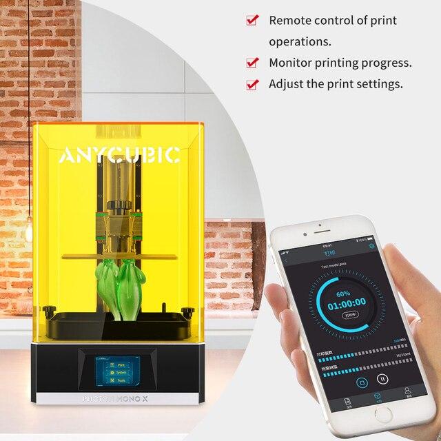 ANYCUBIC Photon Mono X 3D Printer 8.9 inch 4K Monochrome LCD UV Resin Printers 3D Printing High Speed APP Control SLA 3D Printer 5