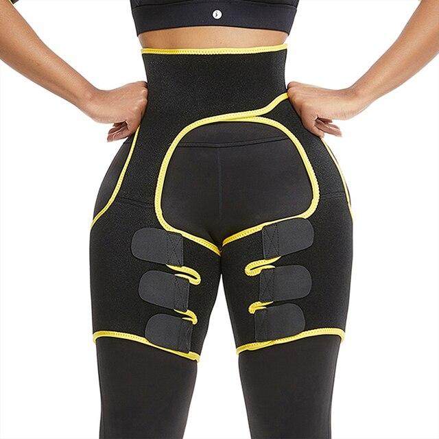 Women Neoprene Slimming Belt Sweat Body Leg Shaper High Waist Trainer Weight Loss Fat Belt Thigh Trimmer Body Shaper 2