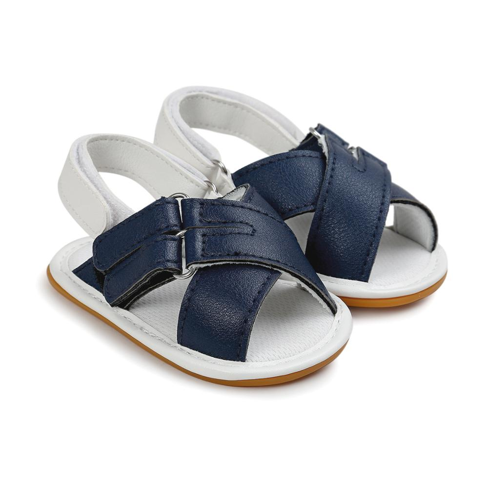 Summer Boy Sandals Baby Girl Shoes Toddler Beach Sandals Infant PU Rubber Soft Sole  Cute Shoes