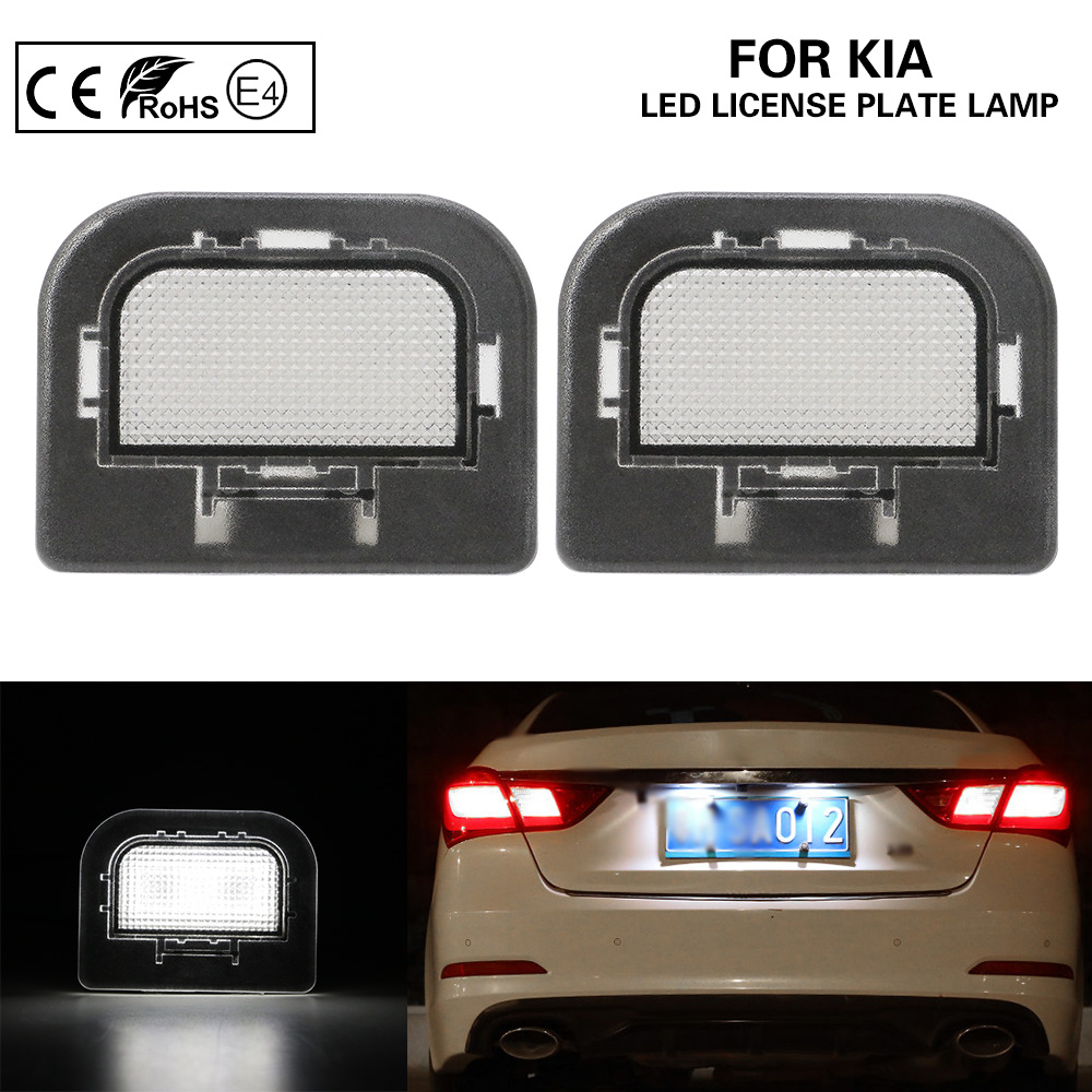 2Pcs Led Number Plate light LED license plate lamp Car Accessories For KIA Optima(K5) 2016- image