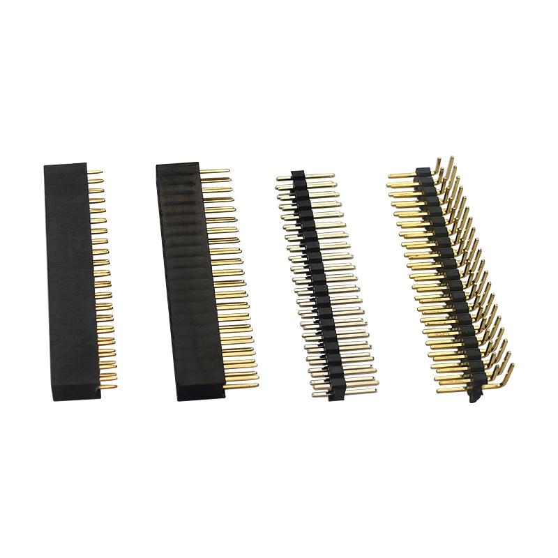 4 Pcs Raspberry Pi GPIO Header Kit 20 X 2 Pins Right Angle GPIO Header For Raspberry Pi Zero / 4B / 3B+ / 3B / 3A+