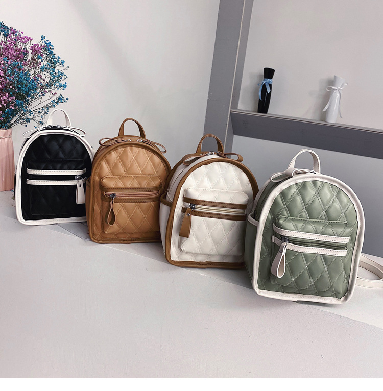 Fashionable Multi-functional Women's Backpack 2020 Spring New Fashion Fashion South Korean Student Girl  Bag