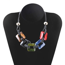 Color plate pendant necklace Europe and America exaggerated jewelry womens fashion accessories New product