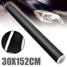 DIY Styling 1pc 152CM X 30CM Matte Black Vinyl Auto Wrap Auto Motorrad Roller Adhesive Film Blatt blase Freies Aufkleber