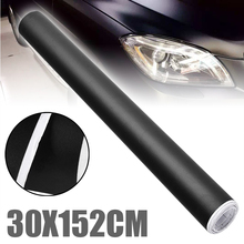 DIY Styling 1pc 152CMX30CM Matte Black Vinyl Car Wrap Car Motorcycle Scooter Adhesive Film Sheet Bubble Free Stickers