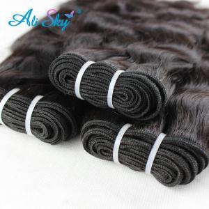 Image 5 - Alisky Hair Malaysian Natural Weave 4 Bundles 100% Human Hair Weave Bundles Remy Human Hair Extensions Natural Black High Ratio