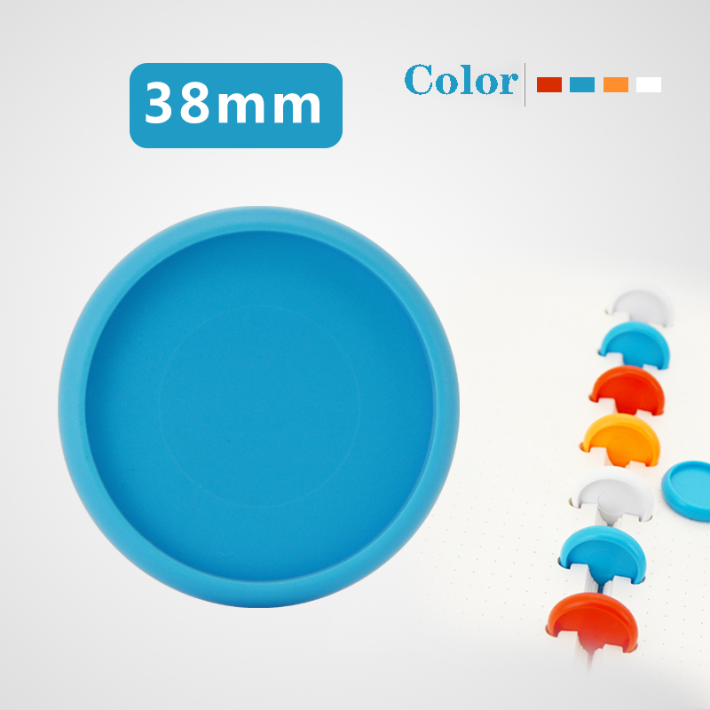 12pcs 38mm Binding Dics Buckle Color Button-like Binder Accessories Mushroom Hole Books Buckle Ring Bingding Disc Binding