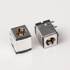 Image 3 - 5pcs DC 007B High quality pure copper gold plated shielded DC power socket DC 5.5*2.1mm/5.5*2.5mm