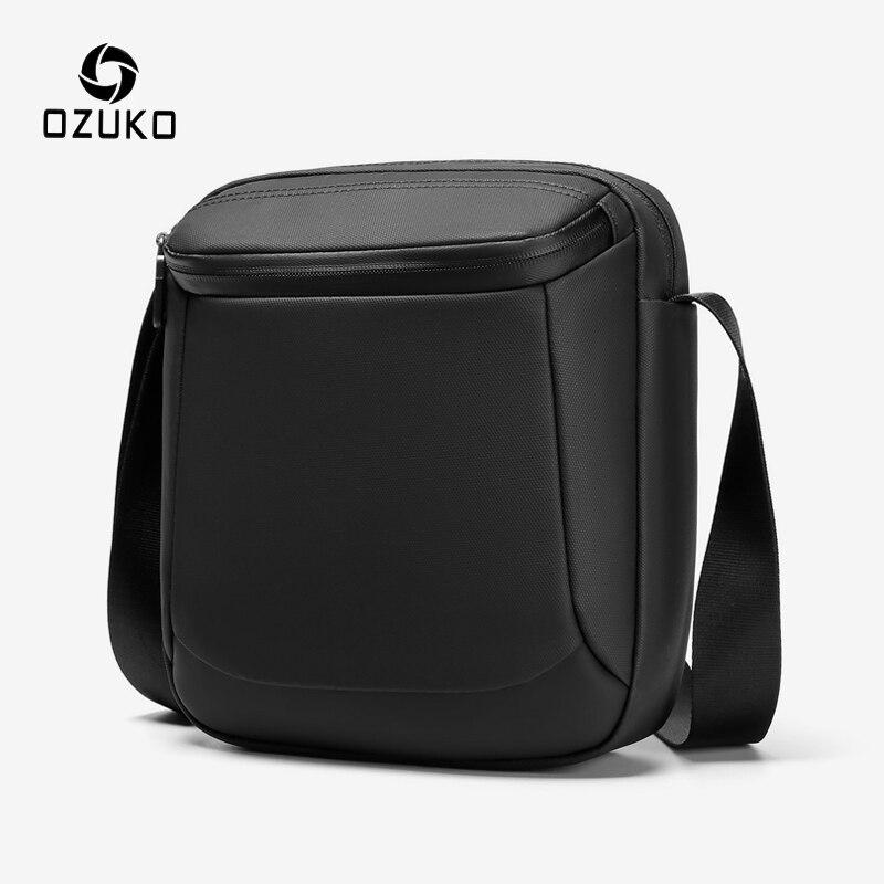 OZUKO Waterproof Men Messenger Bag Casual Male Single Shoulder Bag 9.7
