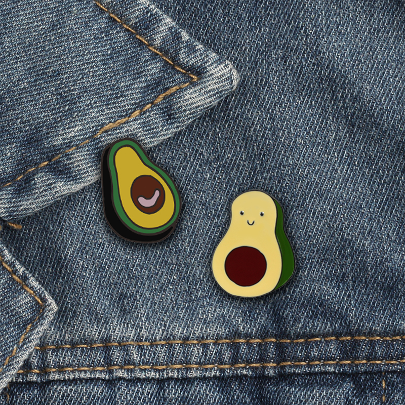 Fashion Brooch Avocado Pineapple Enamel <font><b>Pins</b></font> for Women Kids Jackets Lapel <font><b>Pin</b></font> Custom <font><b>Button</b></font> Badge Jewelry Cartoon Fruit Brooches image