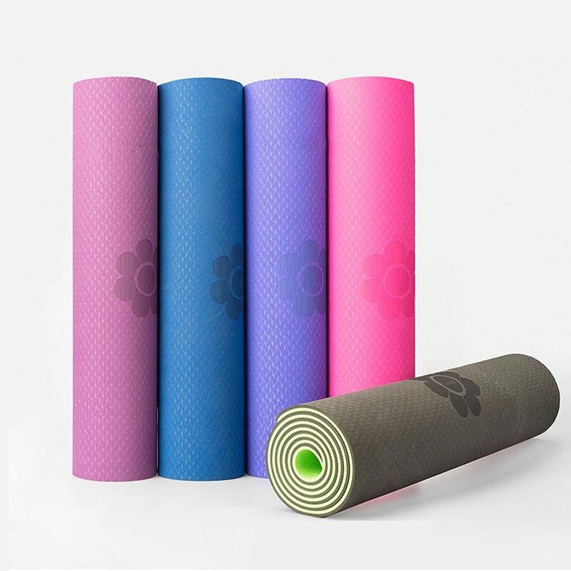 High Quality Tpe Yoga Mat 6mm Tasteless Pilates Gym Exercise Sport Carpet Mats For Beginner Environmental Fitness Hot Wholesale Yoga Mats Aliexpress