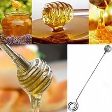 Mini barre d'agitation de miel de cuillère de miel d'acier inoxydable pour le pot de miel fournit des outils de Dessert de bâton de mélange de longue poignée qui respecte l'environnement