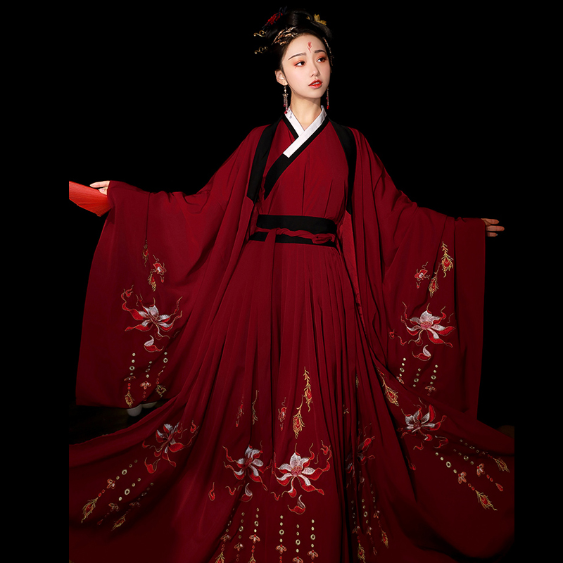 Hanfu Chinese Ancient Women's Wear Red Hanfu Female Tang Hanfu Dress Cosplay Performance Costume Girl Suit Festival Outfit 3257