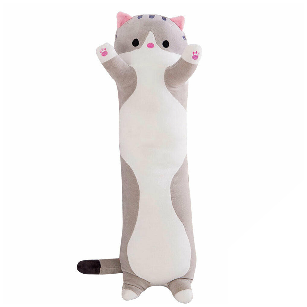 Sofa Decoration Non Toxic Cute Cat Doll Kids Elastic Plush Toy Bedroom Soft Stuffed Sleeping Pillow Cartoon Gifts