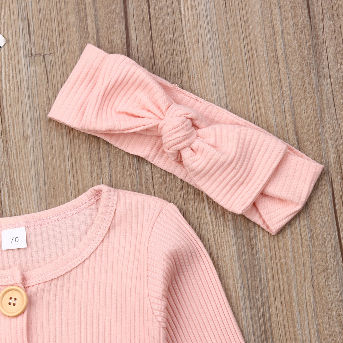 Hf56089c06f744dabb20d2afb618c87d4S Spring Fall Newborn Baby Girl Boy Clothes Long Sleeve Knitted Romper + Headband Jumpsuit 2PCS Outfit 0-24M