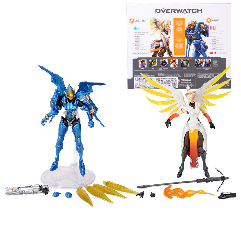 Hasbro Overwatch Ultimates Mercy and Pharah Shrike Ana and Soldier:76  Action Figures Suit Model Toys 6'' 2