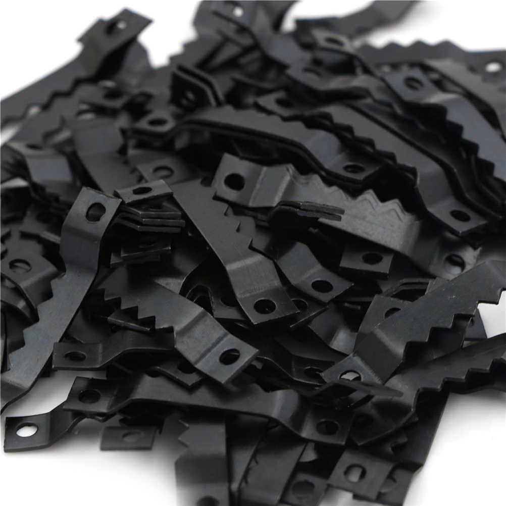 100 adet siyah testere dişi Sawtooth asılı ayna çerçevesi askı kancası resim fotoğraf yağlıboya