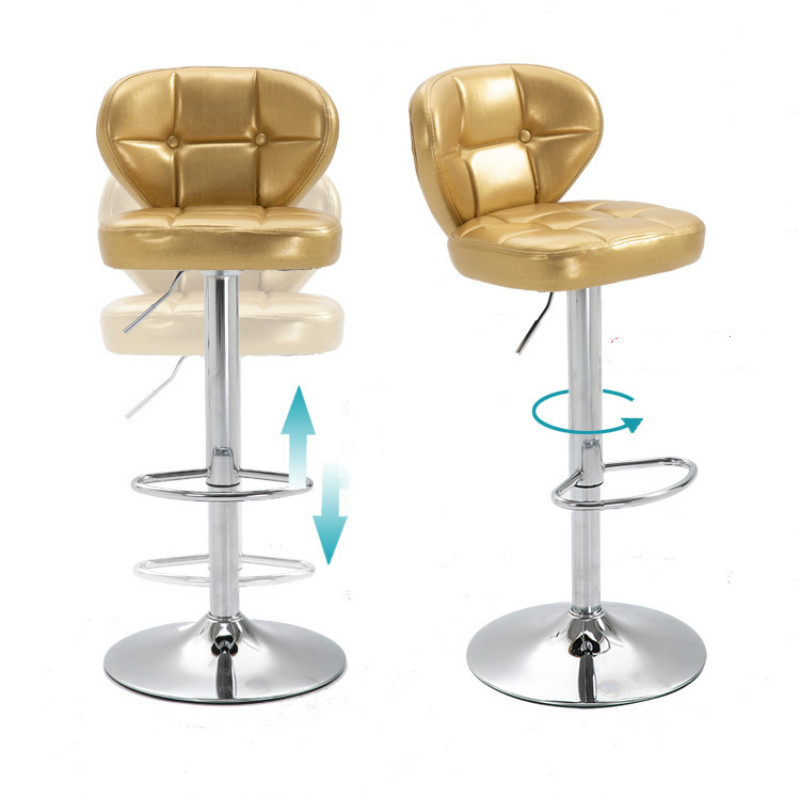 European Bar Chair Lift High Stool Bar Table Chair Rotating Creative Bar Stool Fashion Cashier Stool Back