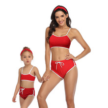 Mother Daughter Swimsuit Mommy And Me Swimwear Family Matching Outfits 2020 New Women Bikini Set Mom And Baby Bathing Suits family swimsuits mommy and me clothes mother daughter swimwear floral bathing suits mom girls matching outfits bikini dress look