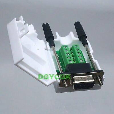 DHL/EMS 50 Sets*DB9 D-SUB VGA Female Adapter 9 Pin Signals Terminal Breakout Plastic Cover Screw -h2