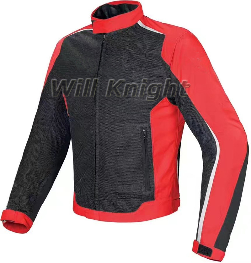 Offre spéciale! veste en maille noire rouge Dain veste de Motocross de montagne