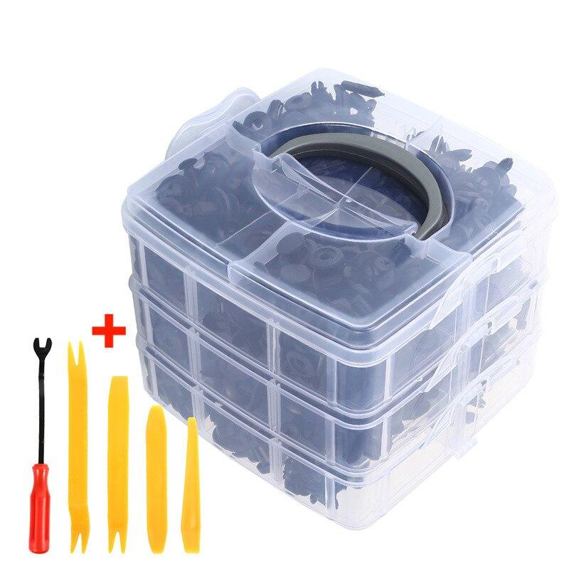 620 pçs fixadores do carro com ferramenta de mão porta guarnição painel amortecedor automático rebite retentor push capa motor fender prendedor clipes universal