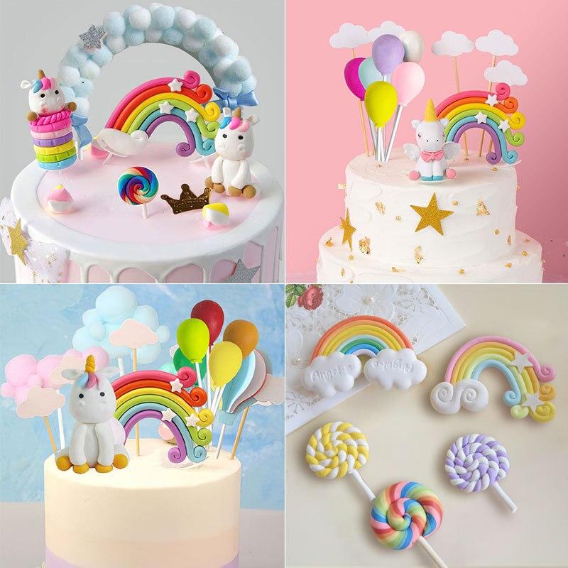 Unicorn Cake Topper Unicorn Birthday Party Supplies Unicorn Birthday Rainbow Cake Topper Deco 1st Girl Birthday Party Unicornion
